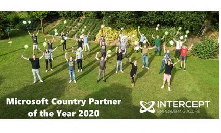 Intercept is winnaar Microsoft Country Partner of the Year Award 2020
