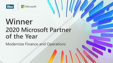 HSO wint Microsoft Partner Award in categorie Modernize Finance and Operations